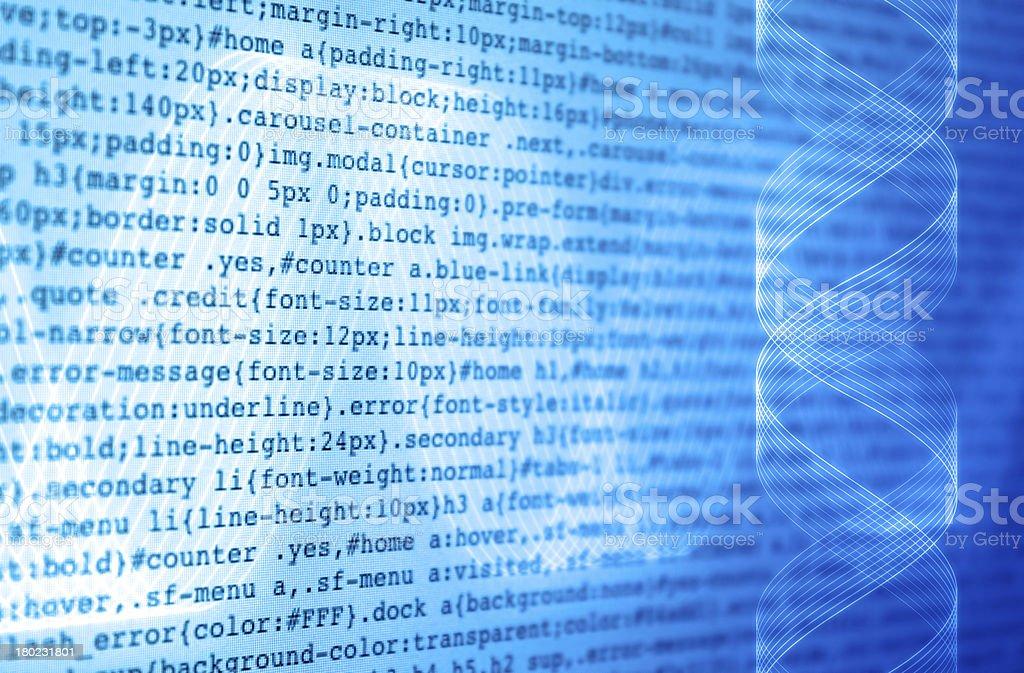 DNA of programming stock photo