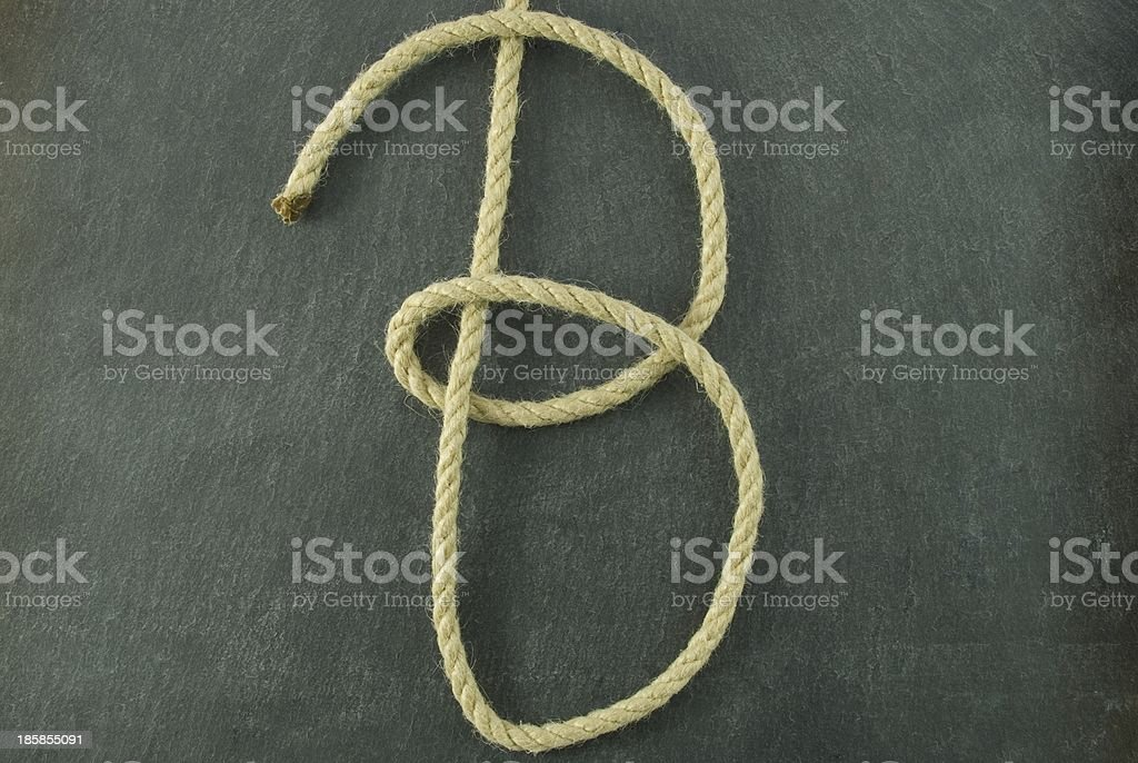 B of rope royalty-free stock photo