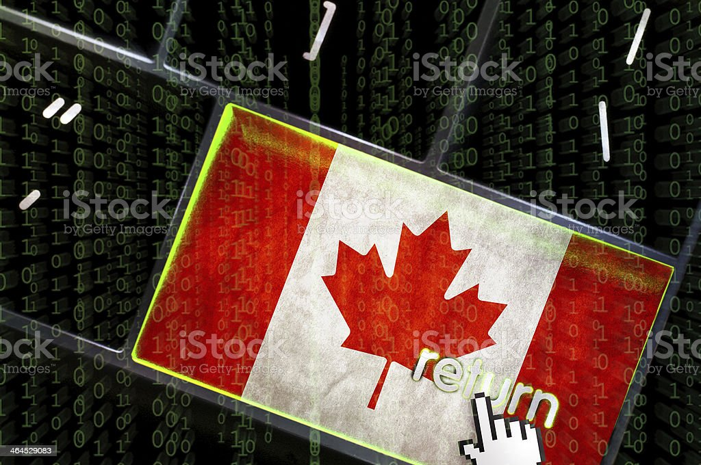 DDOS of service concept from Canada stock photo