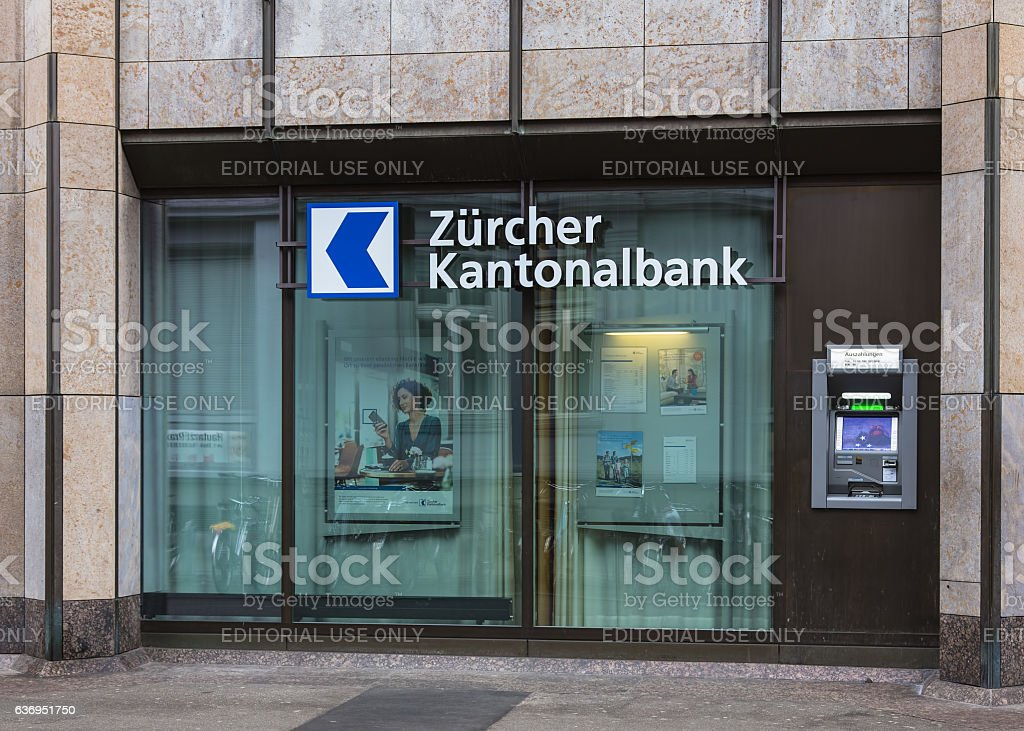 ATM of the Zurich Cantonal Bank stock photo