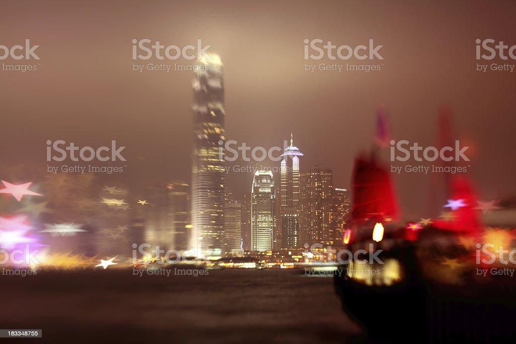 STAR of Victoria Harbor Hong Kong stock photo