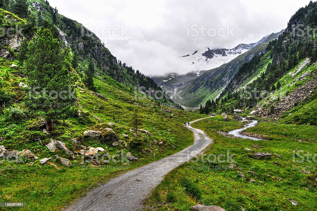 HDR of Zillertal Alps landscape (Austria) royalty-free stock photo