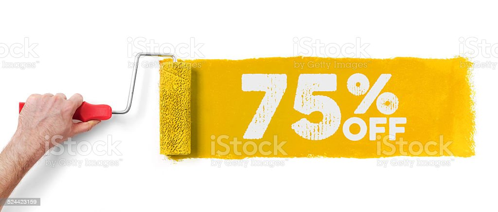 75% off banner stock photo