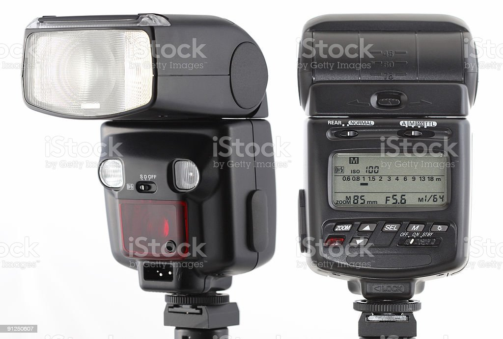 Off Camera Flash Front and Rear stock photo