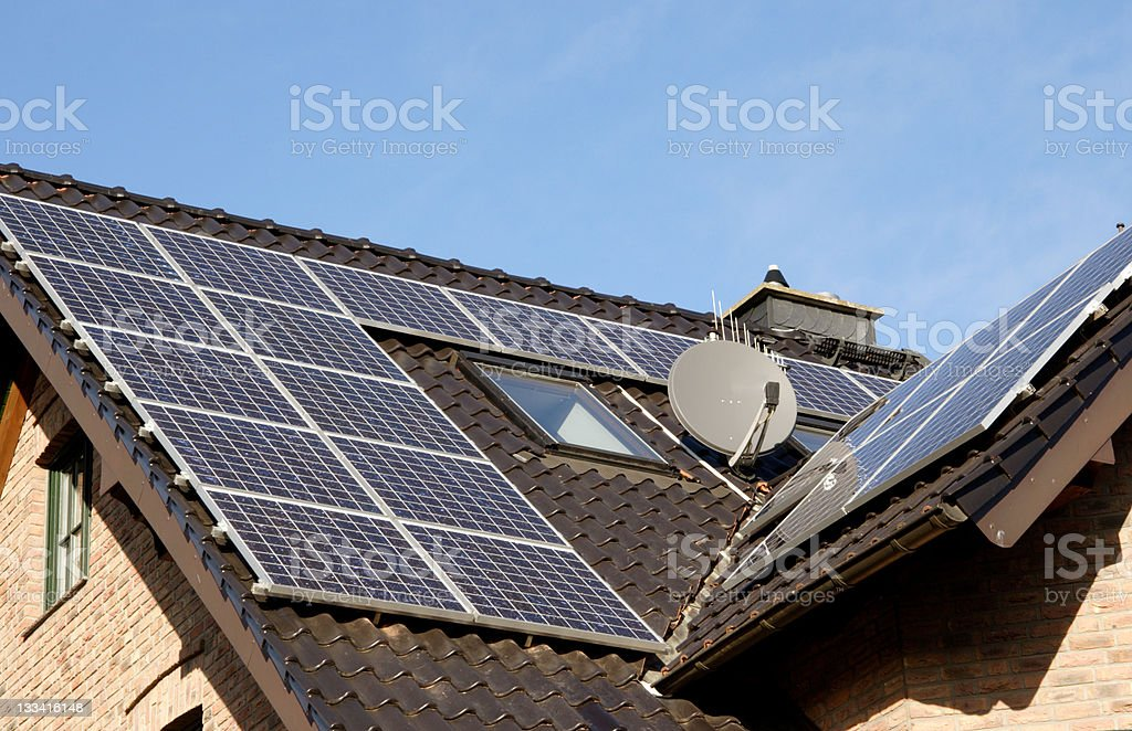 Off grid neighbours stock photo