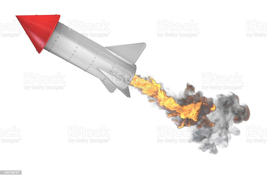 Off like a rocket royalty-free stock photo