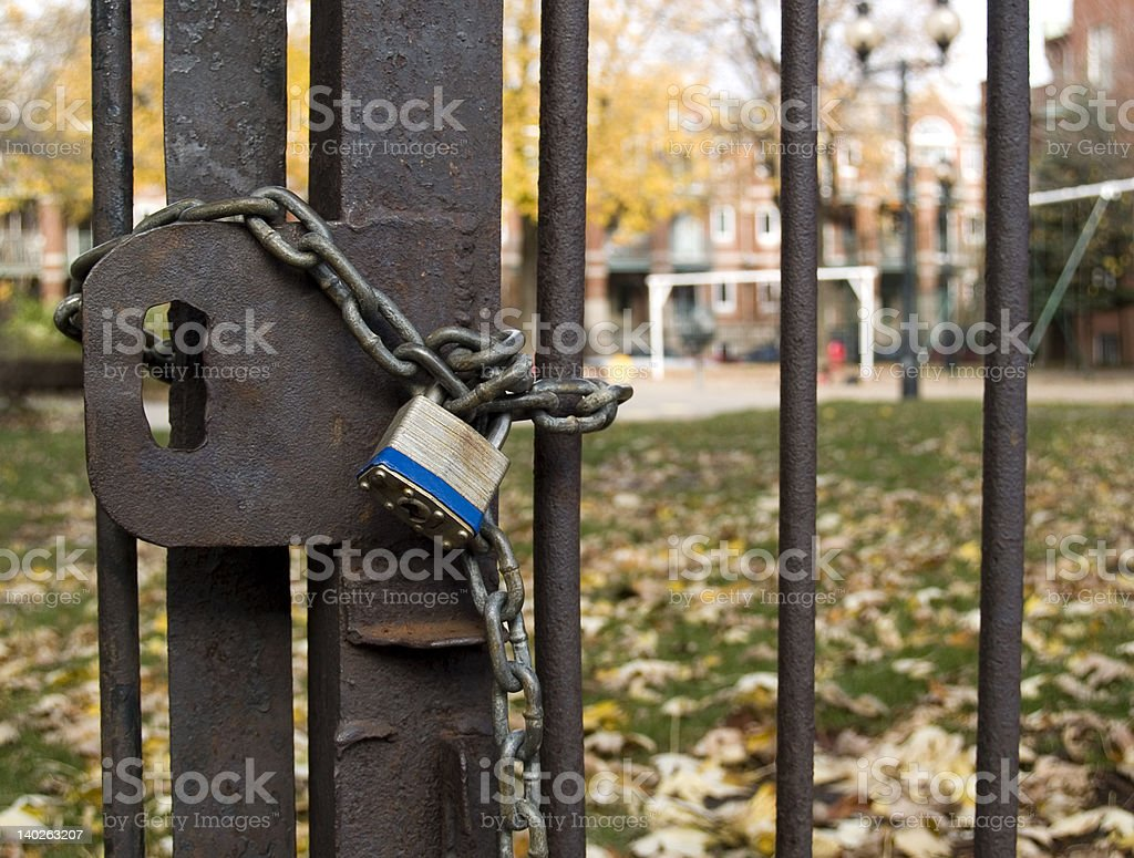 Off limits royalty-free stock photo