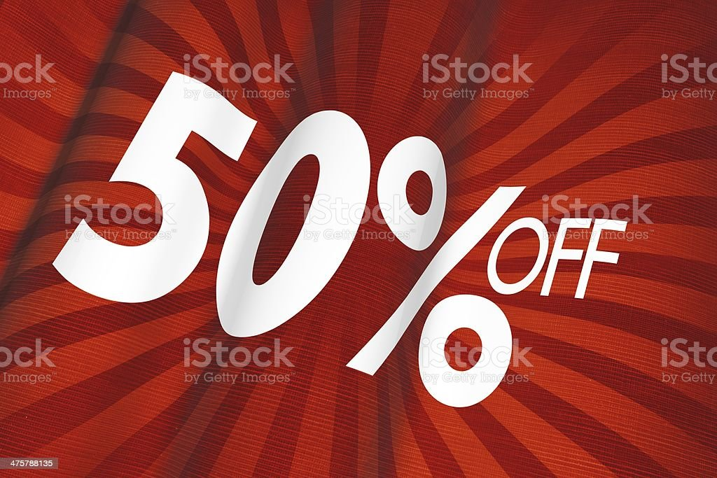 50% Off Linen Flag royalty-free stock photo