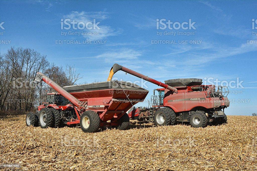Off Loading Grain stock photo