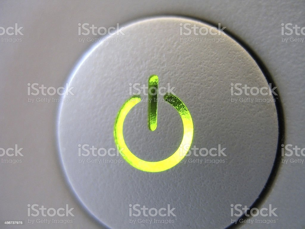 Off on button stock photo