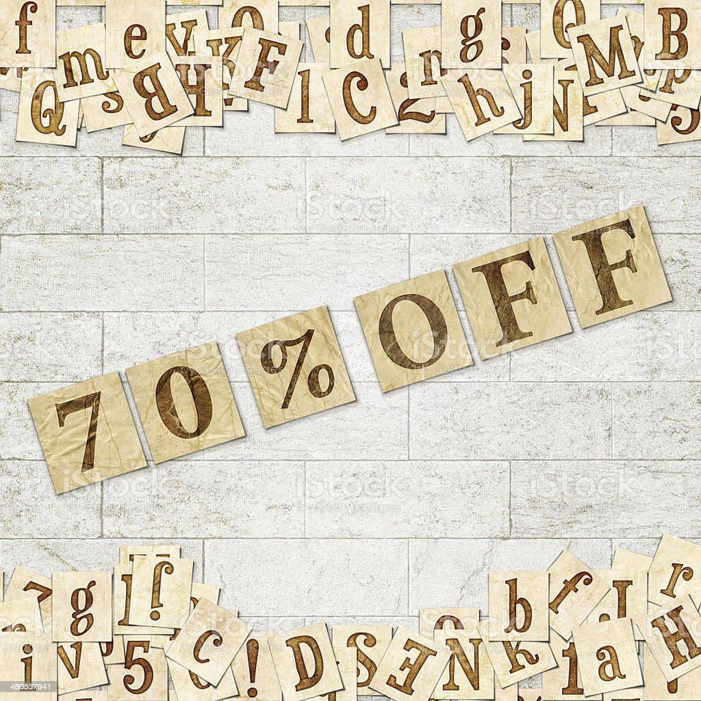 70 % off stock photo