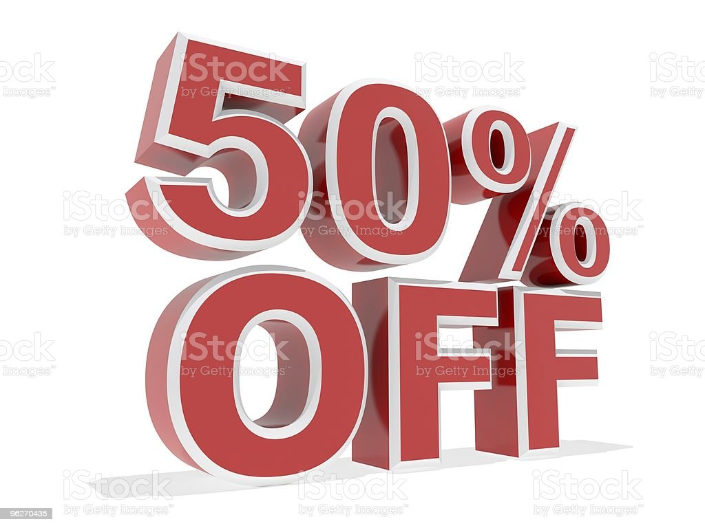 50% Off royalty-free stock photo