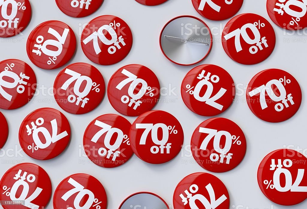 70% off pins royalty-free stock photo