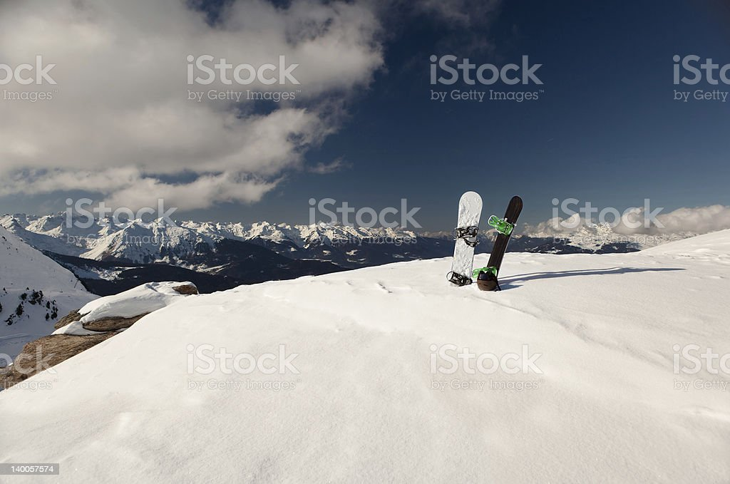 Off piste stock photo