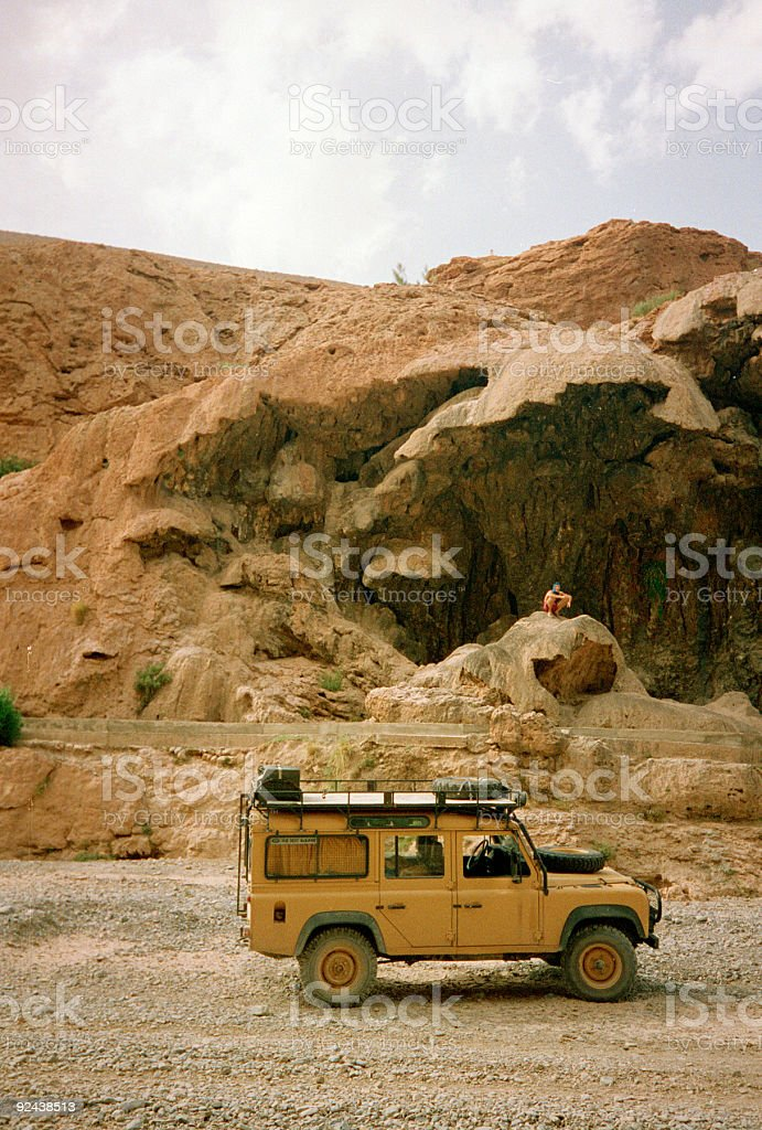 off road desert driving morocco stock photo