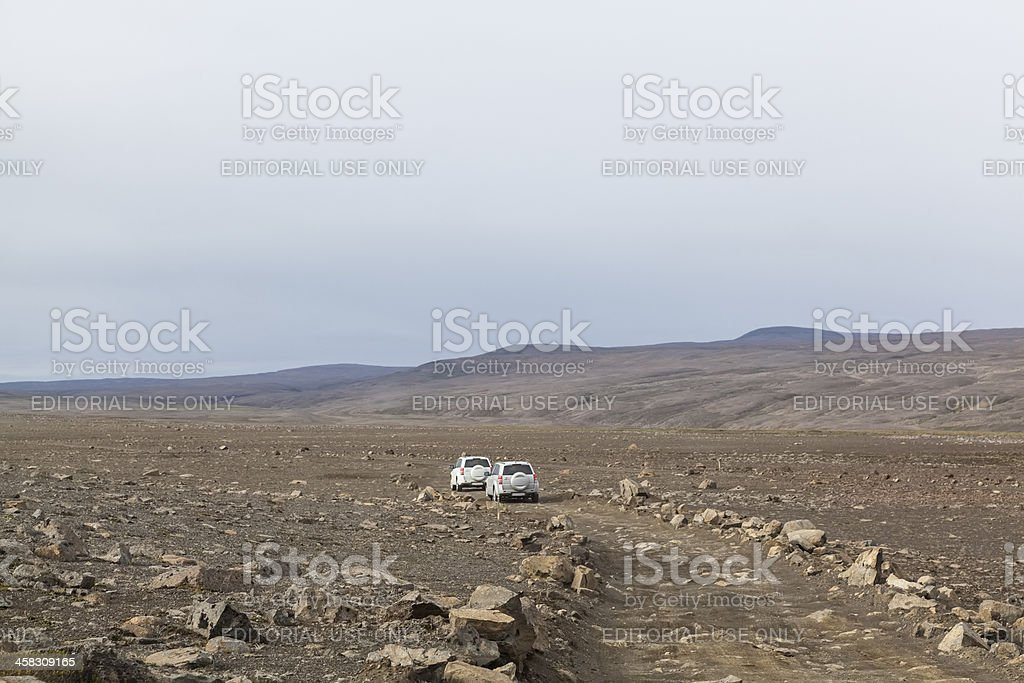 Off road driving in Iceland stock photo