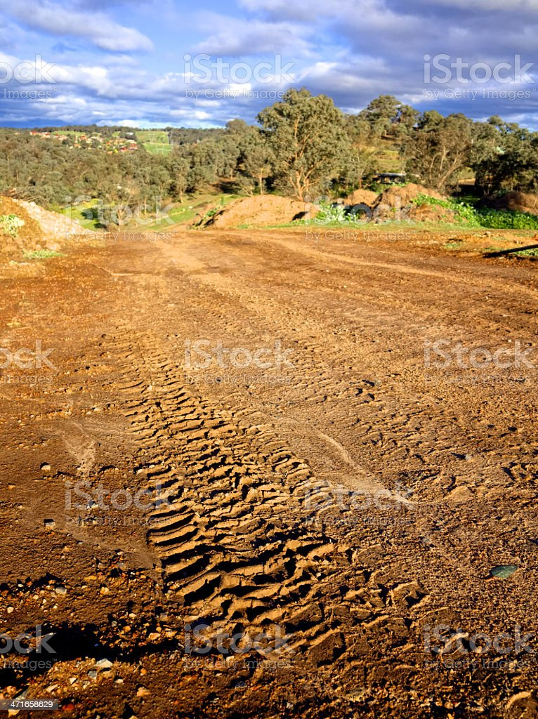off road driving tracks royalty-free stock photo