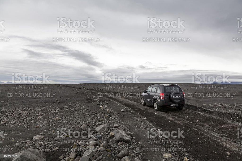 Off road driving with Suzuki 4x4 stock photo