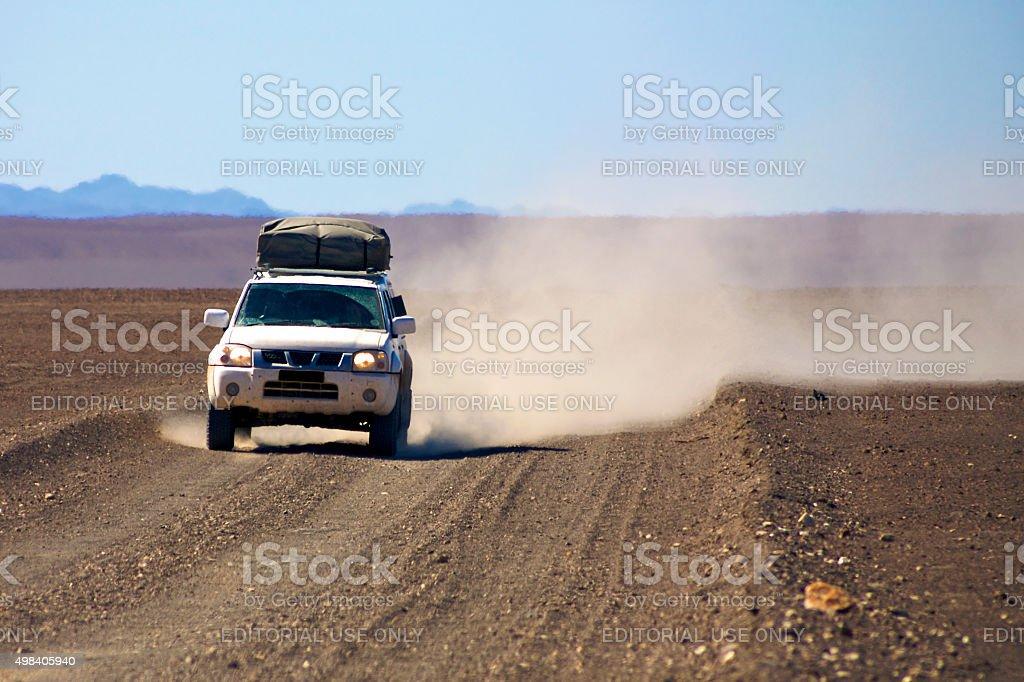 Off road in the Kaokoland desert, Namibia stock photo
