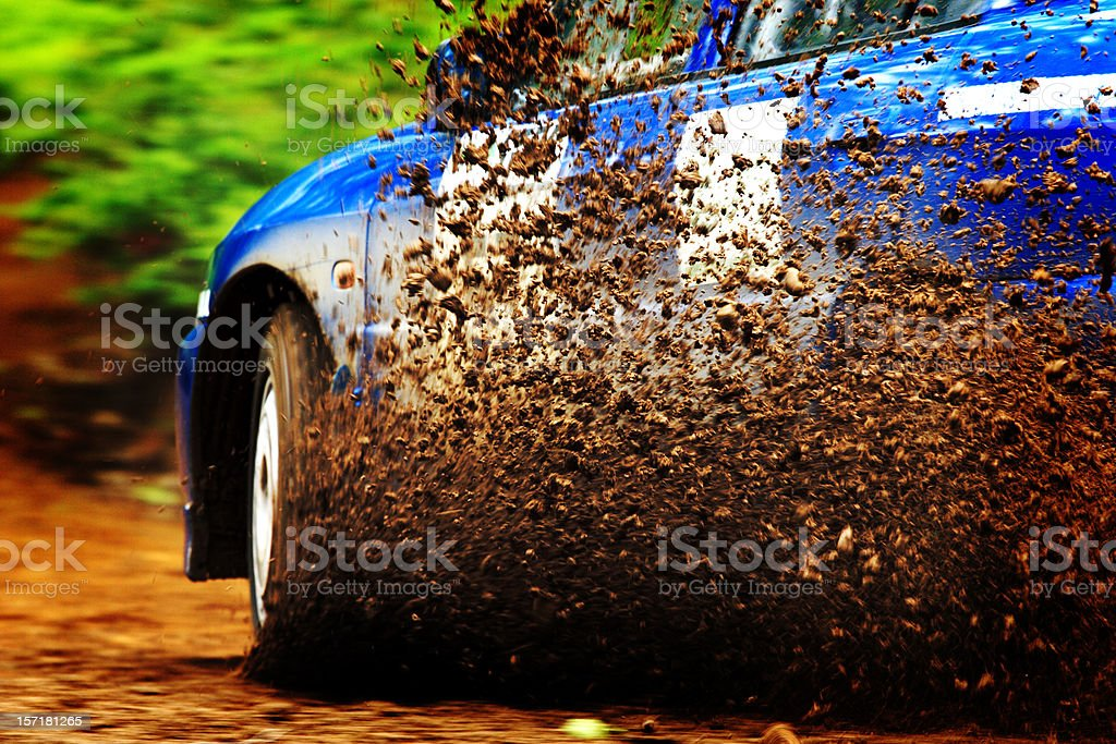 Off Road Rally Driving stock photo