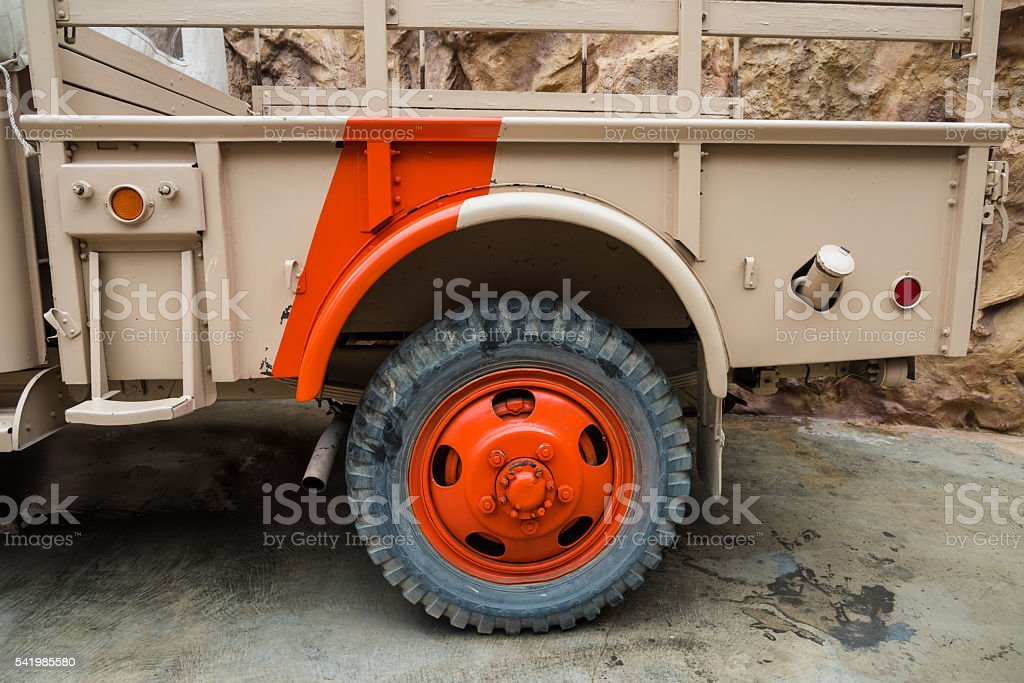 Off Road Truck and tire stock photo