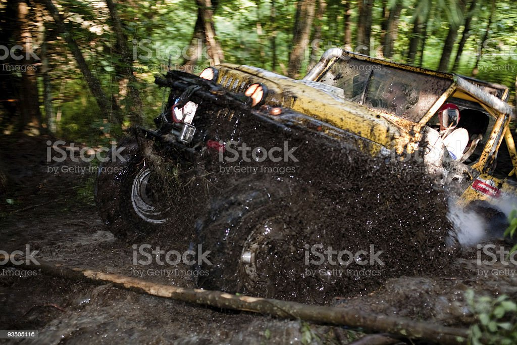 Off road truck in trial competition stock photo