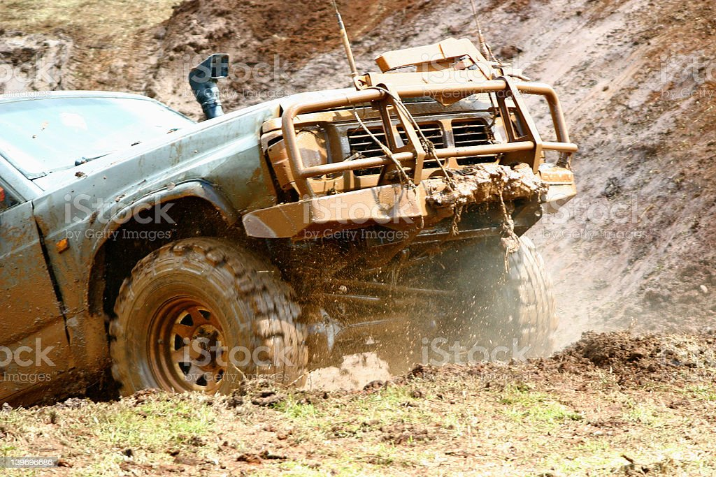 Off roading action 2 stock photo