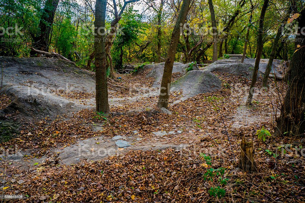 Off Roading Mountain Biking And Hiking Trail stock photo