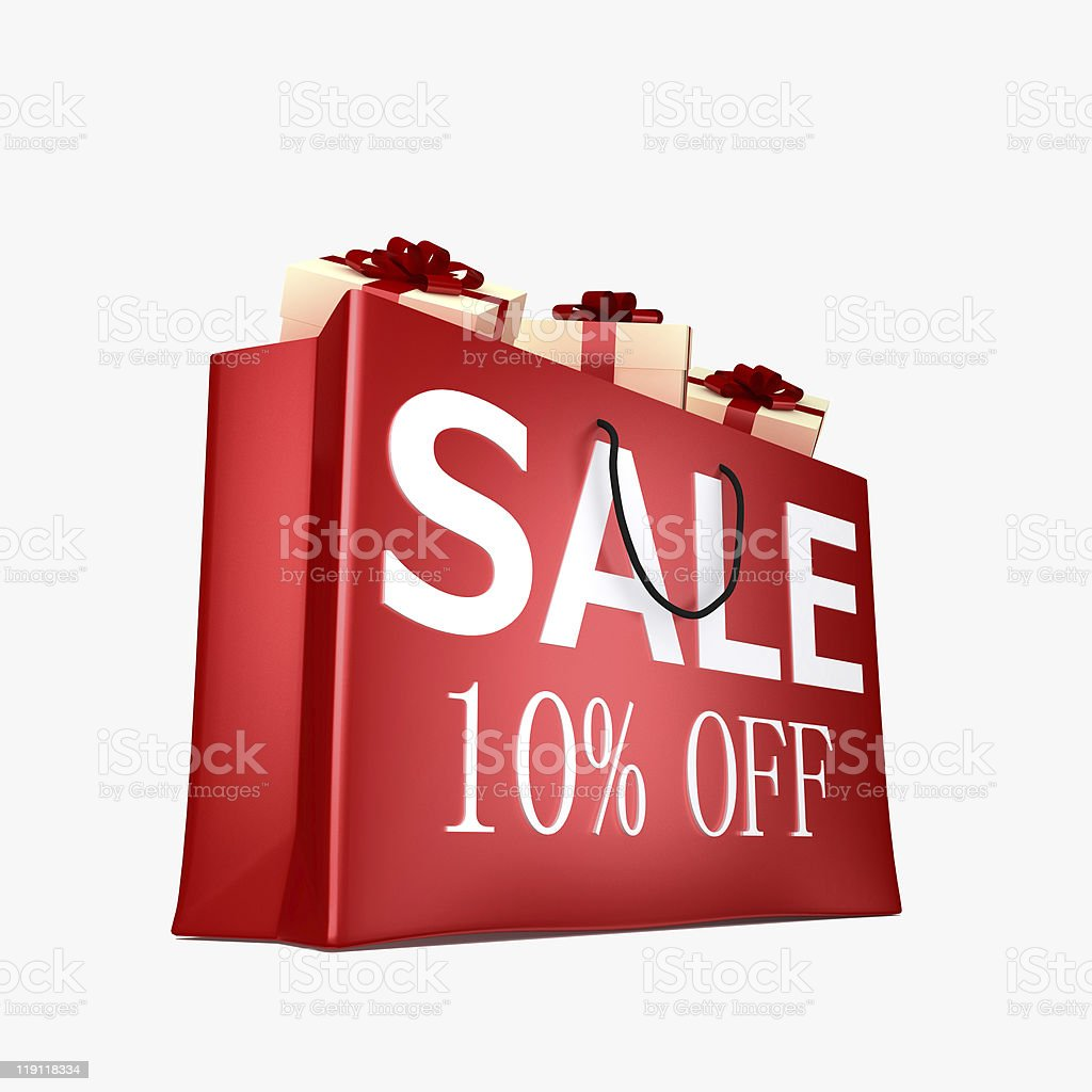 10% off sale royalty-free stock photo