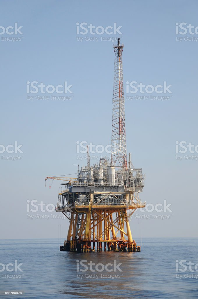 Off shore natural gas production platform royalty-free stock photo