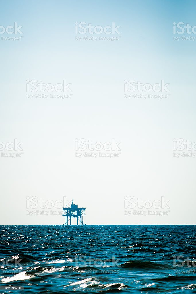 Off Shore Oil Platform royalty-free stock photo