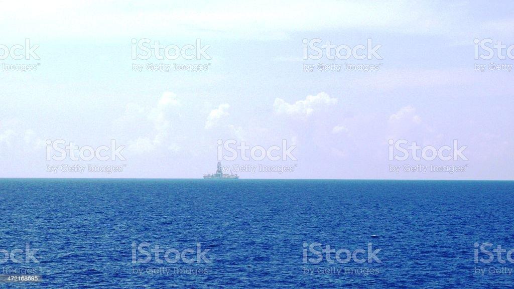 Off shore oil platform royalty-free stock photo
