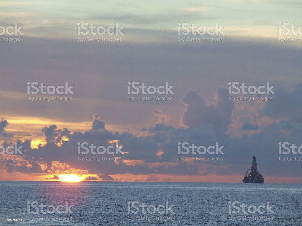 Off shore oil platform stock photo