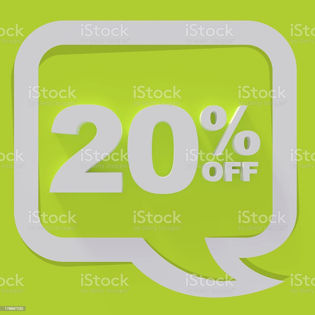 20% off sign royalty-free stock photo