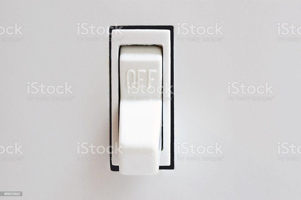 Off Switch royalty-free stock photo