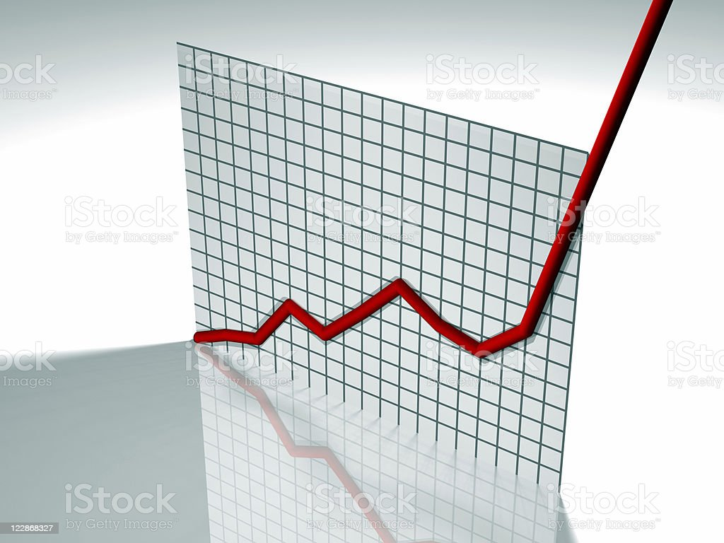 Off The Chart royalty-free stock photo