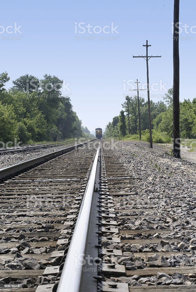 Off the tracks royalty-free stock photo