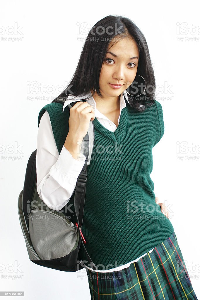 Off to school. royalty-free stock photo