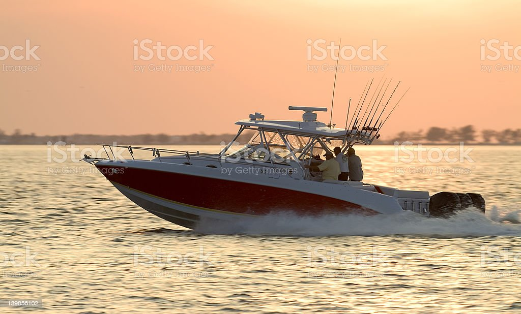 Off to the fishing grounds. stock photo