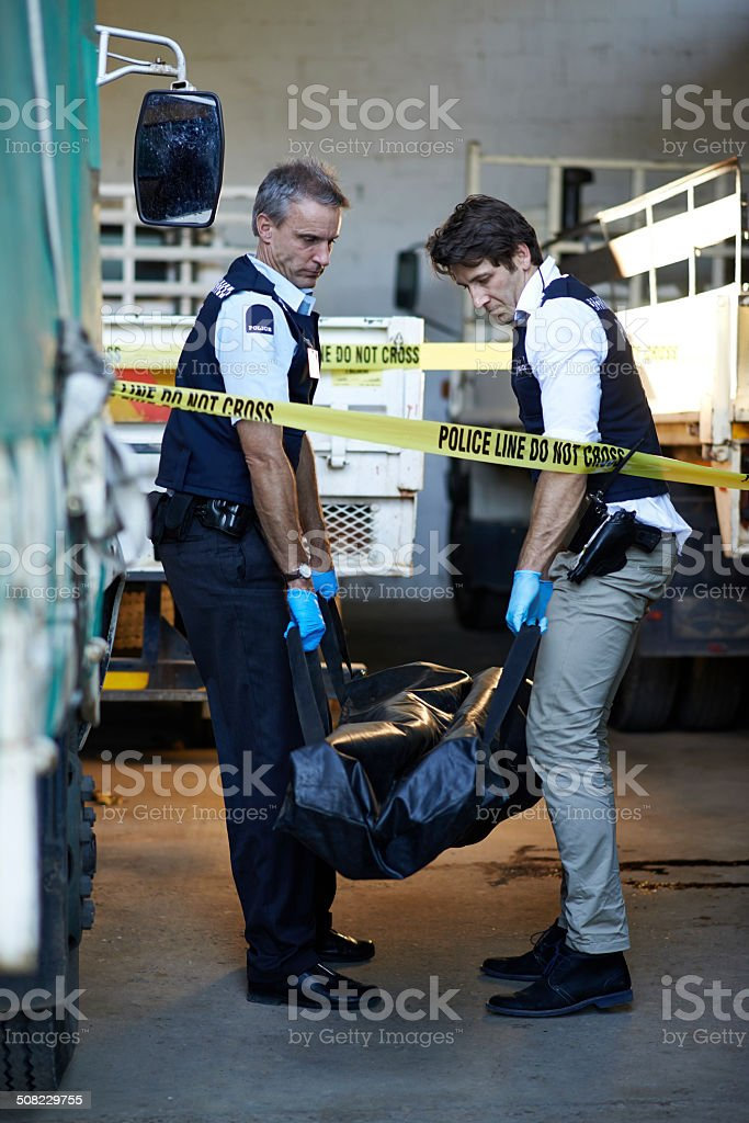 Off to the morgue stock photo