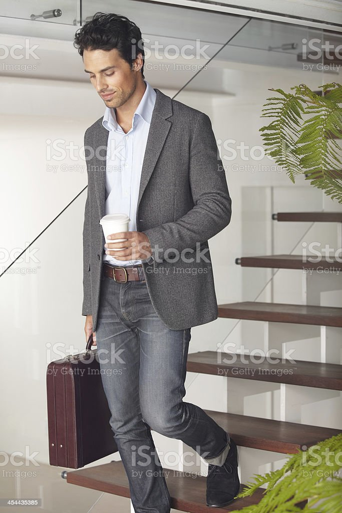 Off to work... stock photo