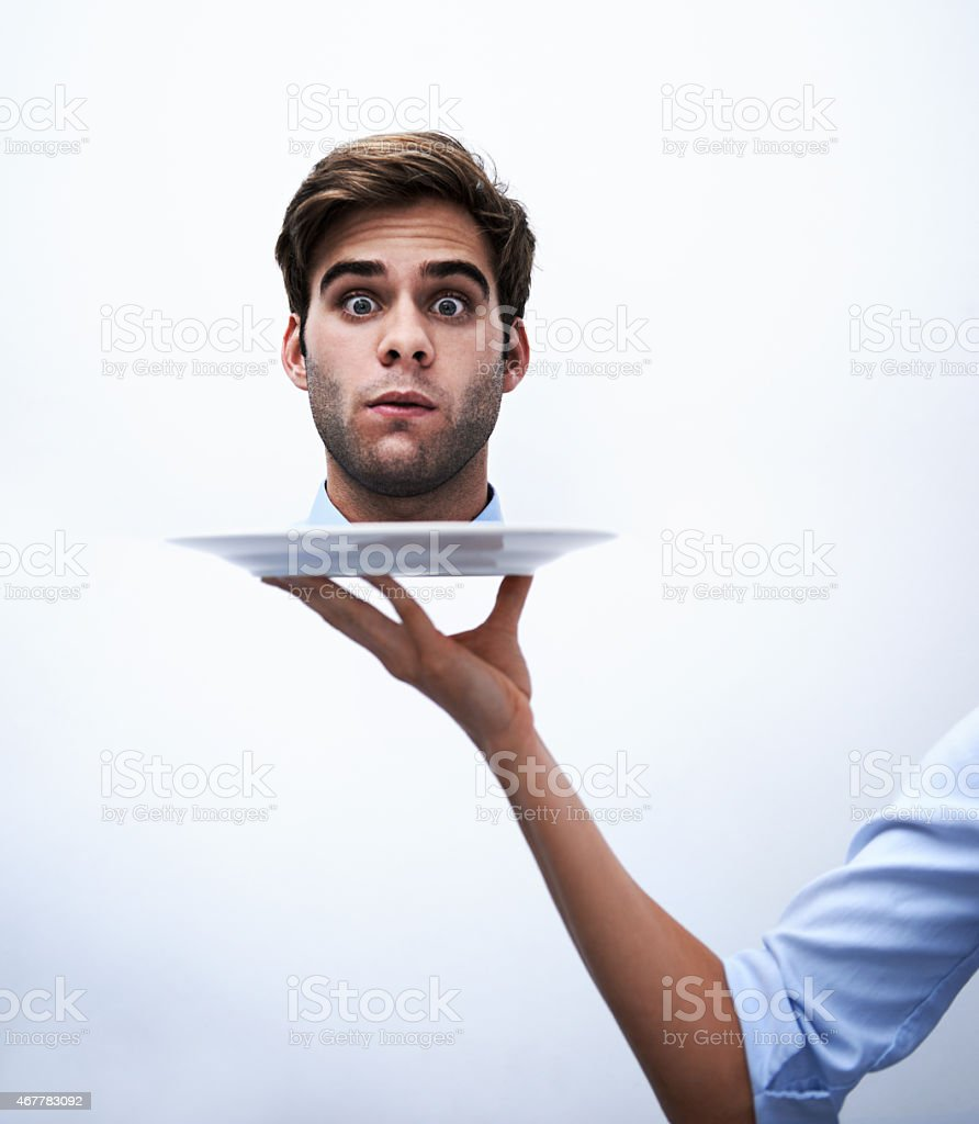Off with their corporate heads! stock photo