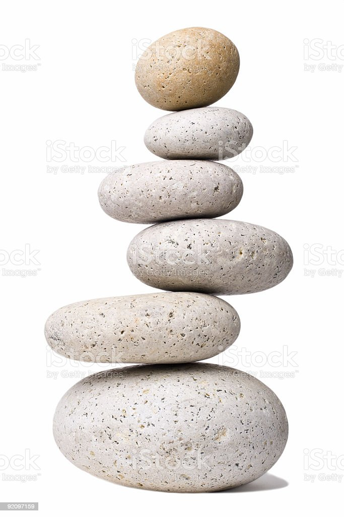 Off-balanced Stones royalty-free stock photo