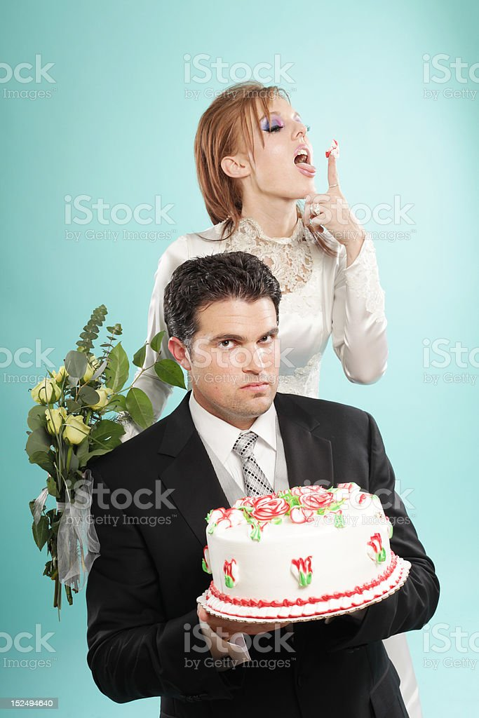 Offbeat wedding portrait royalty-free stock photo