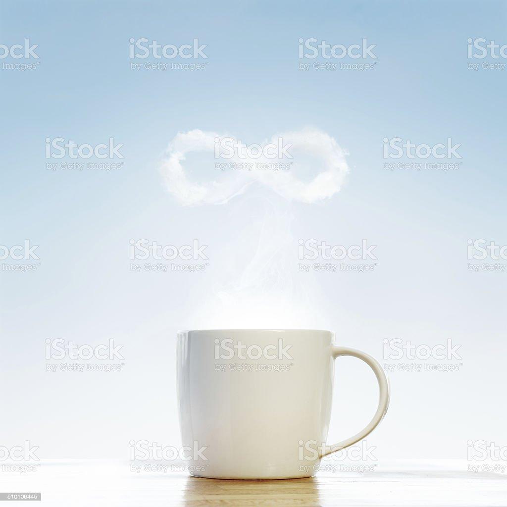 ?offee infinity symbol stock photo