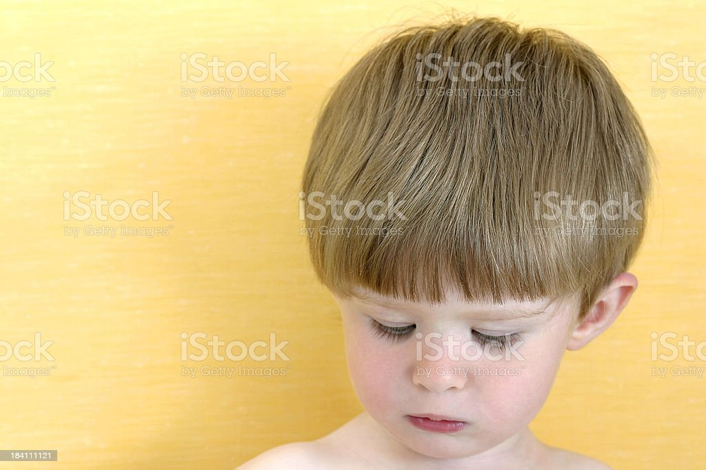 Offended child royalty-free stock photo