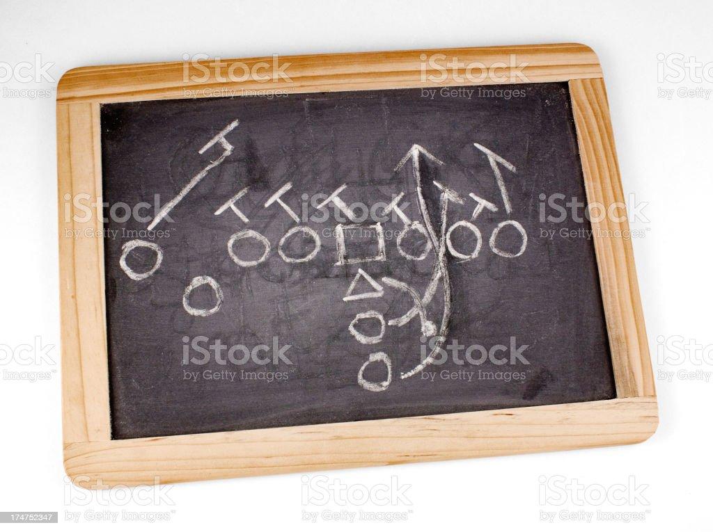 Offensive Football Run Play stock photo