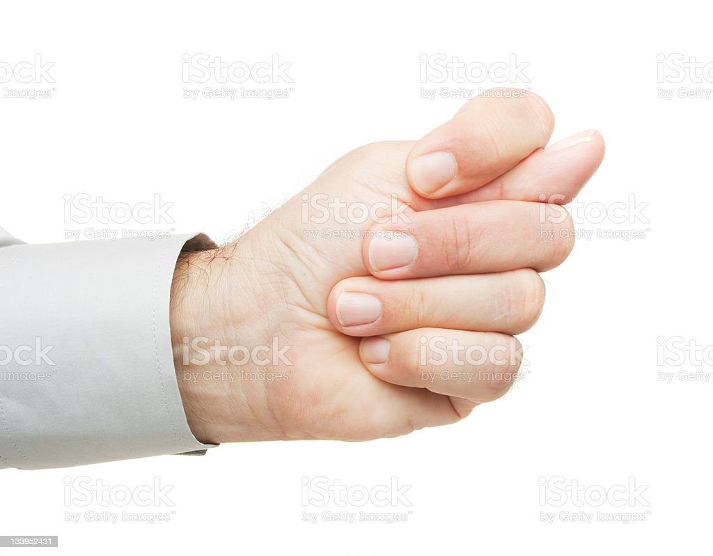 Offensive hand gesture royalty-free stock photo