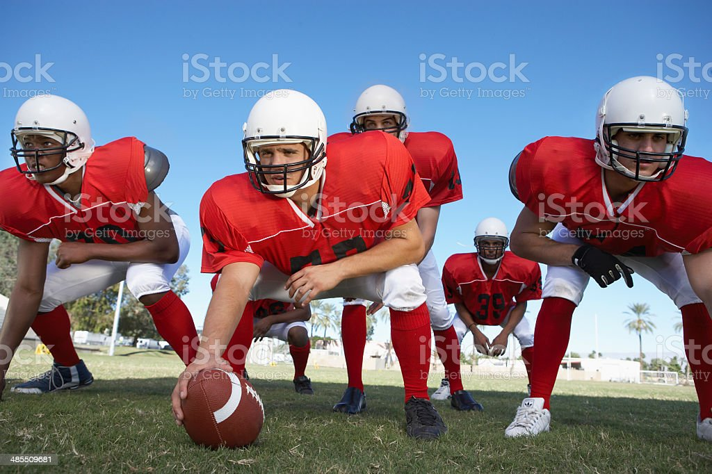 Offensive Line stock photo