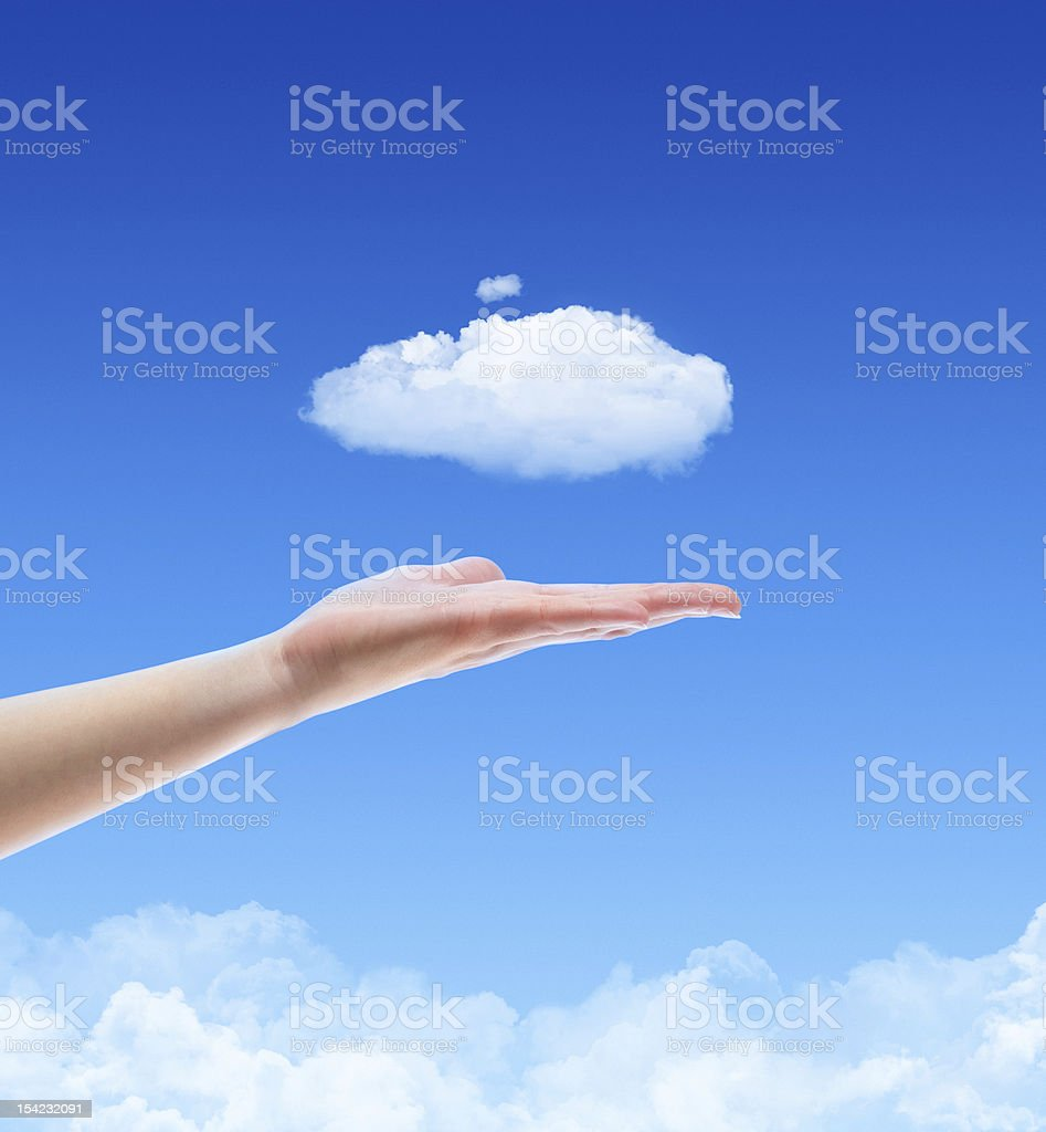 Offer A Cloud Concept stock photo